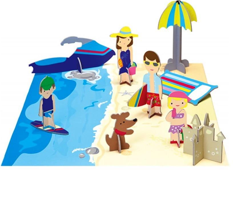 Игровой набор Krooom K-402 Семья на пляже
