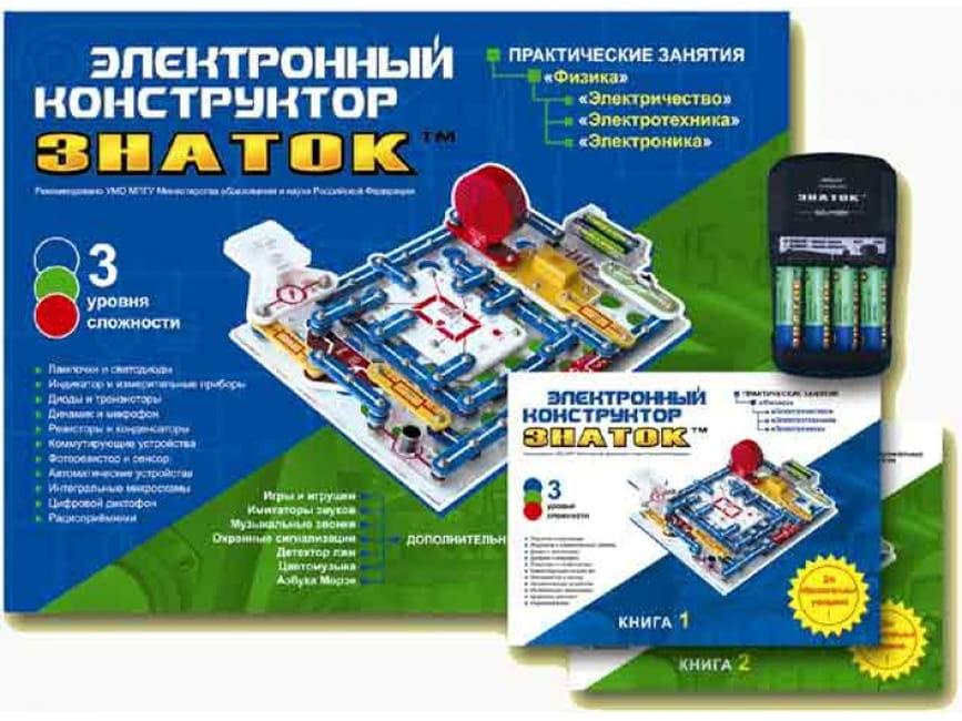Электронный конструктор Знаток 999-Znat+Sh 999 схем + Школа