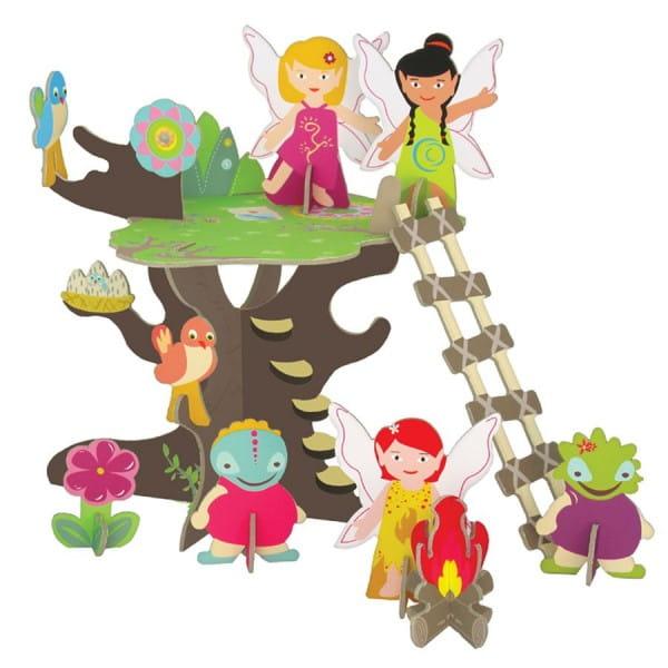 Купить Игровой набор в подарочной коробке Krooom Волшебное дерево фей в интернет магазине игрушек и детских товаров