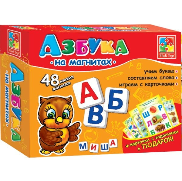 Развивающая игра Vladi Toys VT1502-01 Мягкие пазлы - Азбука на магнитах