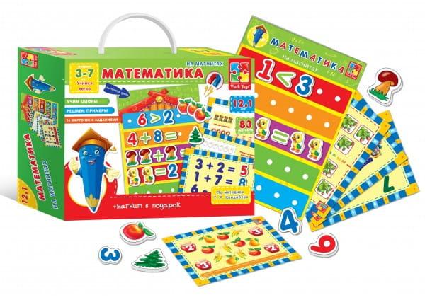 Развивающая игра Vladi Toys Математика с магнитной доской (12 в 1)