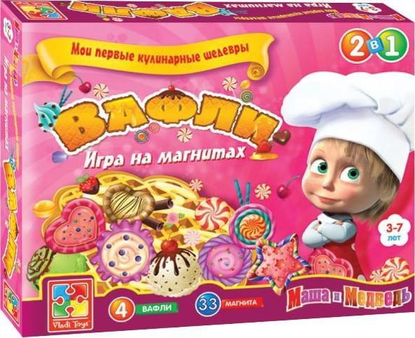 Купить Игра на магнитах Vladi Toys Мои первые кулинарные шедевры - Вафли в интернет магазине игрушек и детских товаров