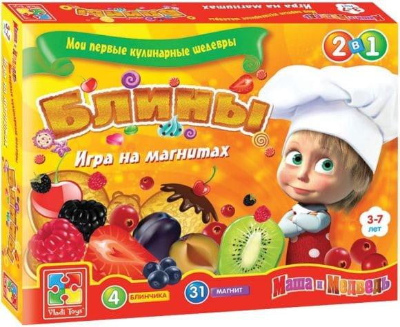 Купить Игра на магнитах Vladi Toys Мои первые кулинарные шедевры - Блины в интернет магазине игрушек и детских товаров