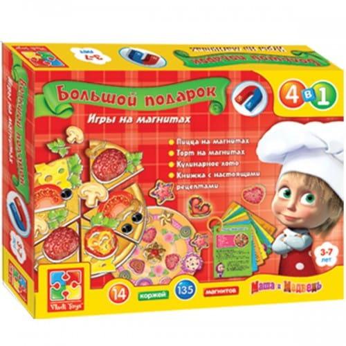 Купить Настольная игра Vladi Toys Большой кулинарный подарок Готовим с Машей и Медведем в интернет магазине игрушек и детских товаров