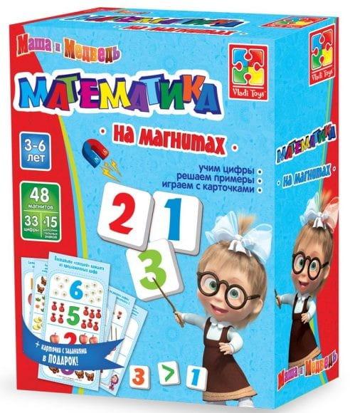 Настольная игра Vladi Toys Математика на магнитах (Маша и Медведь)