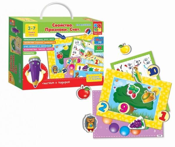 Купить Игра с магнитами Vladi Toys Свойства. Признаки. Счет в интернет магазине игрушек и детских товаров