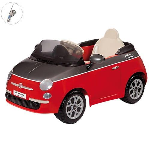 Купить Детский электромобиль Peg-Perego Fiat 500 c радиоуправлением - красный в интернет магазине игрушек и детских товаров