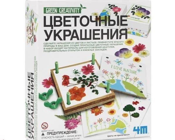 Купить Набор для творчества 4M Цветочные украшения в интернет магазине игрушек и детских товаров