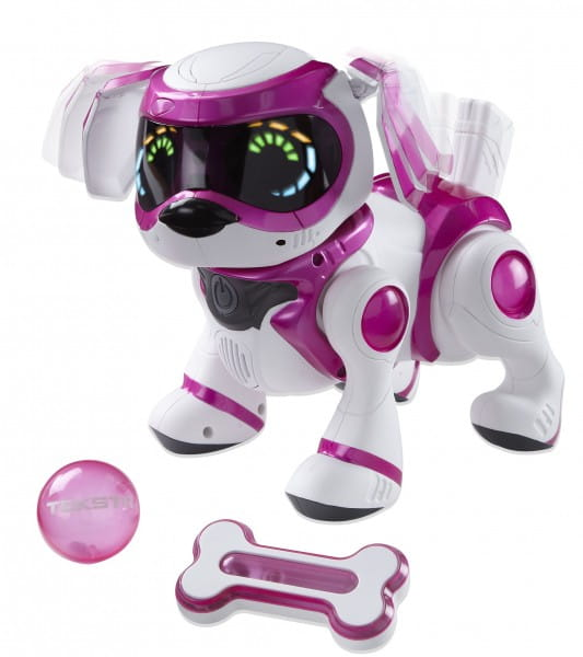Купить Интерактивная собака Teksta Robotic Puppy - розовая в интернет магазине игрушек и детских товаров