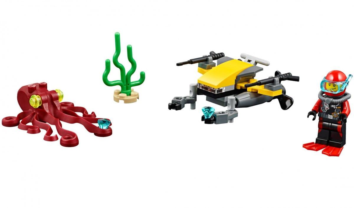Конструктор Lego 60090 City Лего Город Глубоководный скутер