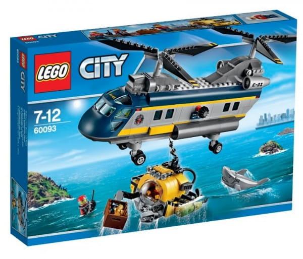 Конструктор Lego City Лего Город Вертолет исследователей моря