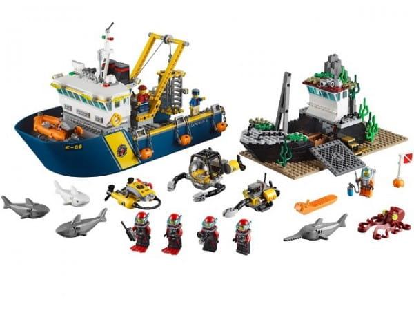 Конструктор Lego City Лего Город Корабль исследователей морских глубин