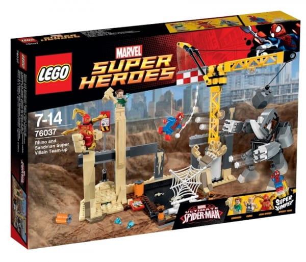 Конструктор Lego Super Heroes Лего Супер Герои Носорог и Песочный человек против Супергероев