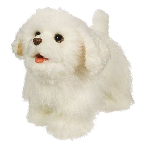 Купить Интерактивный ходячий щенок FurReal Friends - белый (Hasbro) в интернет магазине игрушек и детских товаров
