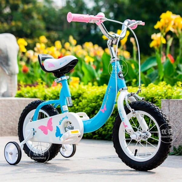 Купить Детский Велосипед Royal Baby Butterfly Steel - 14 дюймов в интернет магазине игрушек и детских товаров