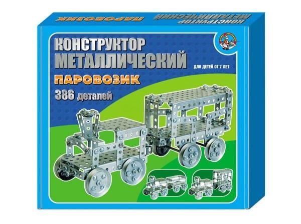Купить Металлический конструктор Десятое королевство Паровозик в интернет магазине игрушек и детских товаров