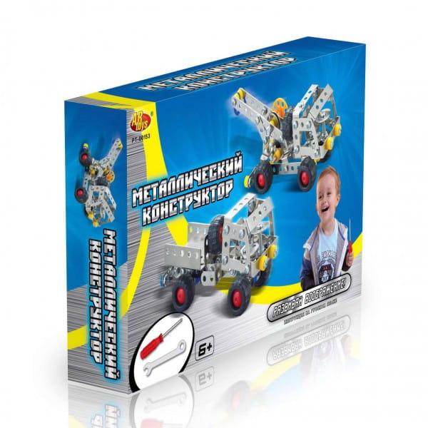 Купить Металлический конструктор Abtoys Грузовик и эвакуатор в интернет магазине игрушек и детских товаров