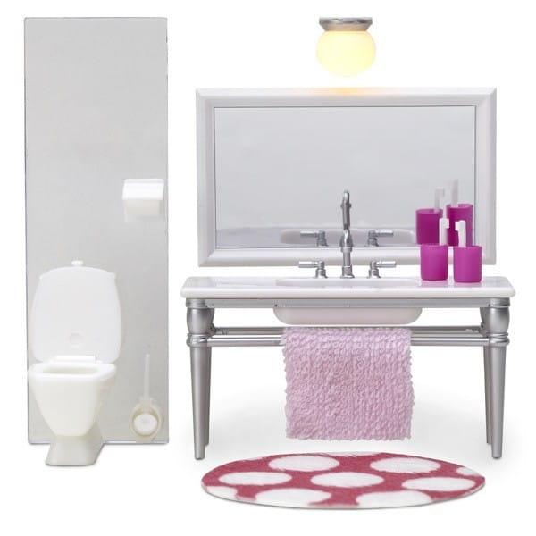 Набор мебели для домика Lundby LB_60208700 Смоланд Ванная (с 1 раковиной)