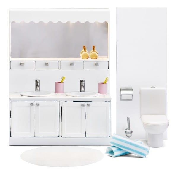 Набор мебели для домика Lundby LB_60208800 Смоланд Ванная (с 2 раковинами)