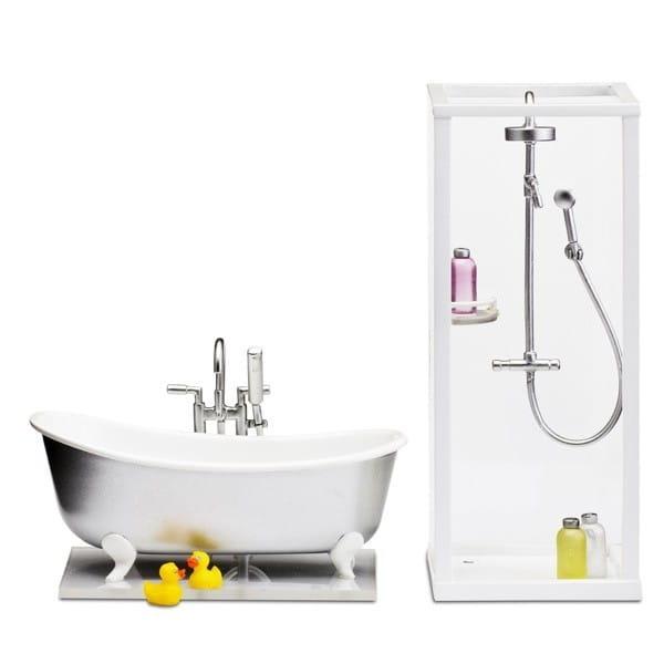 Набор мебели для домика Lundby Смоланд Ванная и душевая