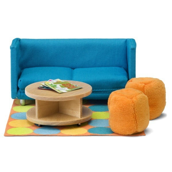 Набор мебели для домика Lundby Смоланд Гостиная с раскладывающимся диваном