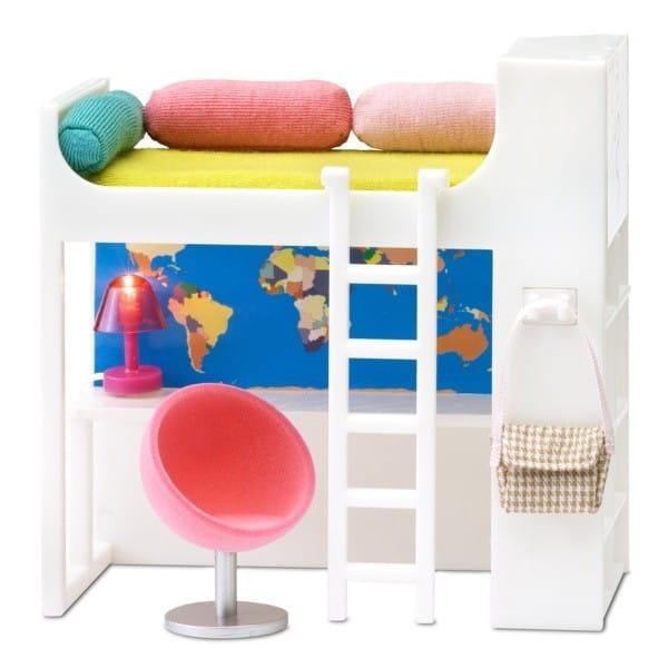 Набор мебели для домика Lundby LB_60208400 Смоланд Детская кровать-чердак