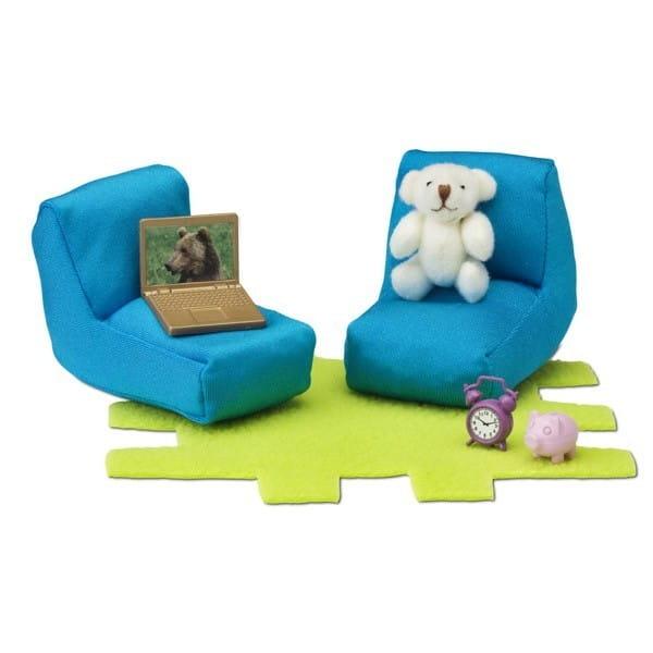 Купить Набор мебели для домика Lundby Смоланд Детская (уголок для подростка) в интернет магазине игрушек и детских товаров