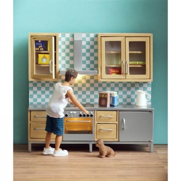Набор мебели для домика Lundby LB_60209500 Смоланд Кухня (с холодильником и плитой)