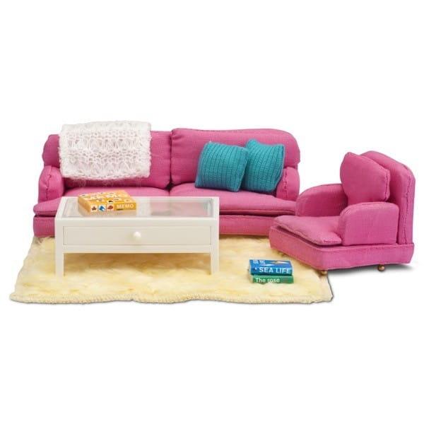 Набор мебели для домика Lundby LB_60208300 Смоланд Гостиная в розовых тонах
