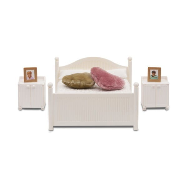 Купить Набор мебели для домика Lundby Смоланд Классическая спальня (белая) в интернет магазине игрушек и детских товаров