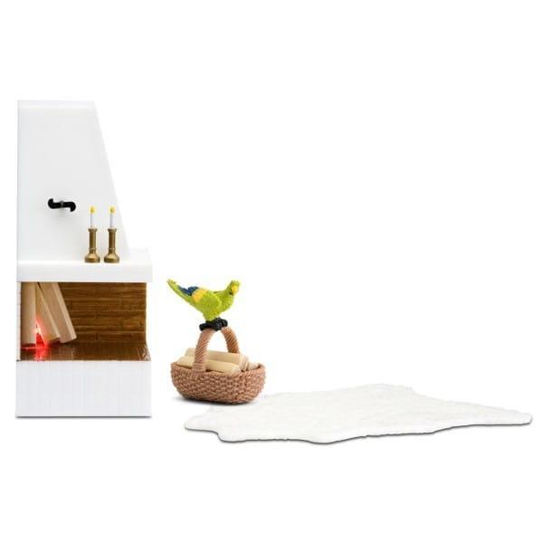 Набор мебели для домика Lundby LB_60305100 Смоланд Камин с декором