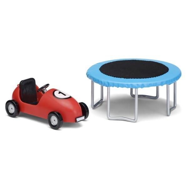 Купить Набор для домика Lundby Смоланд Батут и машинка с педалями в интернет магазине игрушек и детских товаров