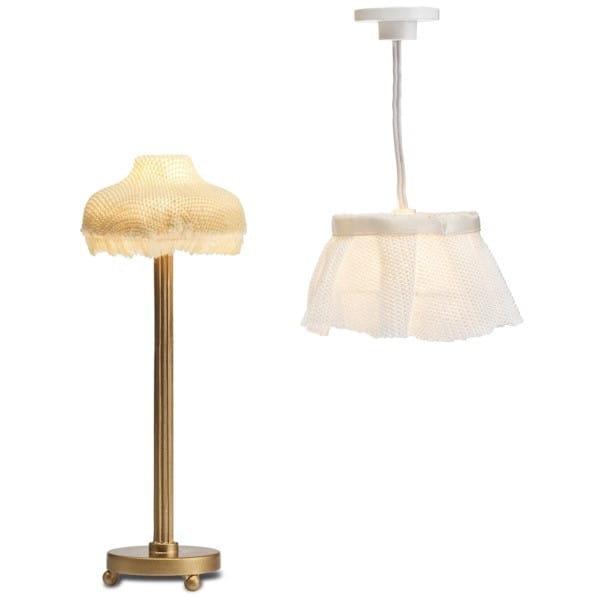 Набор для домика Lundby Смоланд Торшер и потолочная лампа с абажуром
