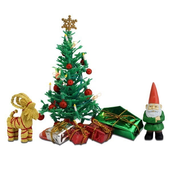 Новогодний набор с елкой и подарками для домика Lundby LB_60604500 Смоланд