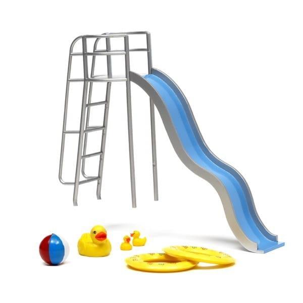 Купить Набор мебели для бассейна для домика Lundby Стокгольм (с горкой) в интернет магазине игрушек и детских товаров