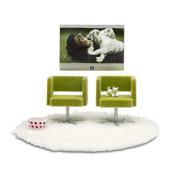 Набор мебели для домика Lundby LB_60905100 Стокгольм Домашний кинотеатр