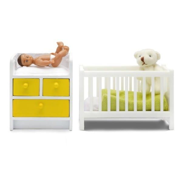 Набор мебели для домика Lundby LB_60905300 Стокгольм Кроватка с пеленальным комодом