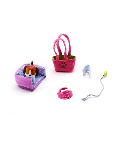 Купить Игровой набор Lottie Собачка Бисквит (с аксессуарами) в интернет магазине игрушек и детских товаров