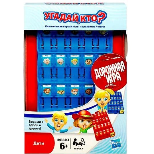 Купить Дорожная настольная игра Hasbro Угадай кто? в интернет магазине игрушек и детских товаров