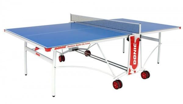 Всепогодный теннисный стол Donic Outdoor Roller De Luxe - синий