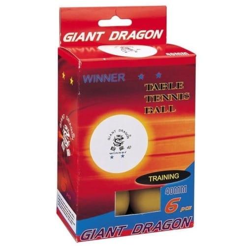 Купить Мячи Giant Dragon Winner - желтые в интернет магазине игрушек и детских товаров
