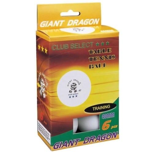 Купить Мячи Giant Dragon Club Select - белые в интернет магазине игрушек и детских товаров