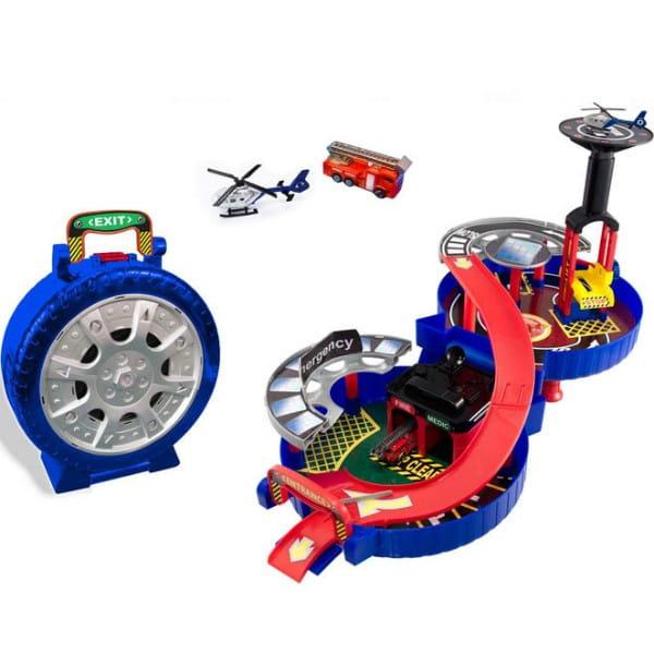 Купить Центр спасательной службы в колесе HTI (2 уровня) в интернет магазине игрушек и детских товаров