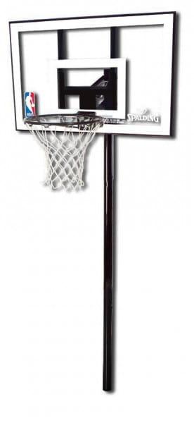 Купить Баскетбольная стойка Spalding Silver Rectangle Polycarbonate 44 In Ground в интернет магазине игрушек и детских товаров