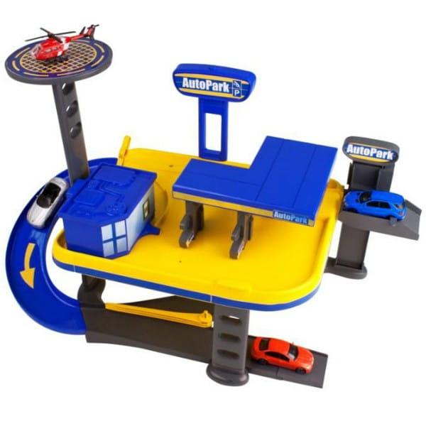 Купить Двухуровневый гараж HTI Автозаправка в интернет магазине игрушек и детских товаров