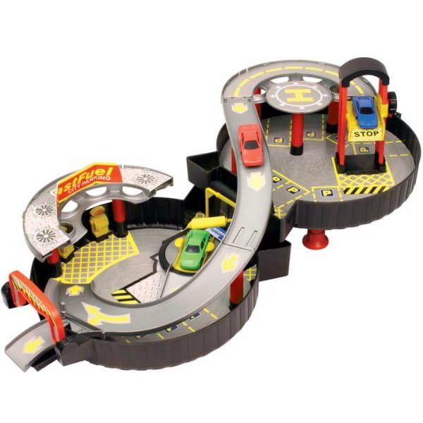Купить Двухуровневый гараж в чемодане HTI в интернет магазине игрушек и детских товаров