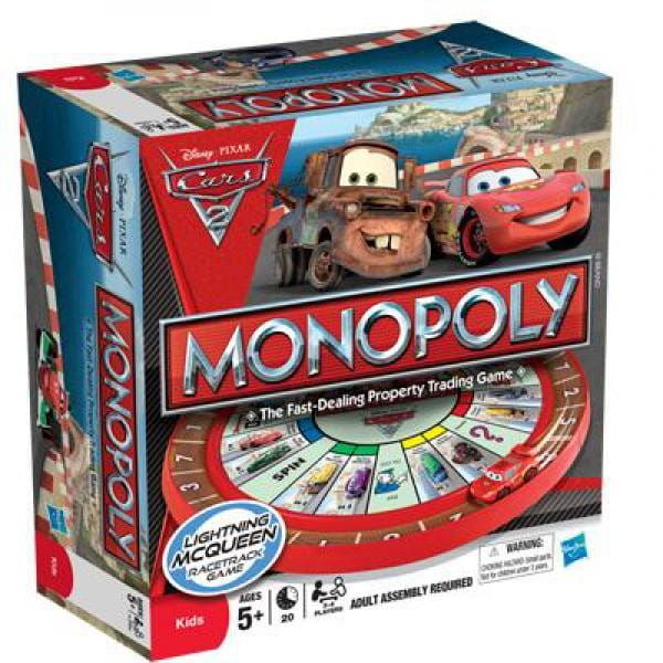 Купить Настольная игра Hasbro Монополия - Тачки 2 в интернет магазине игрушек и детских товаров