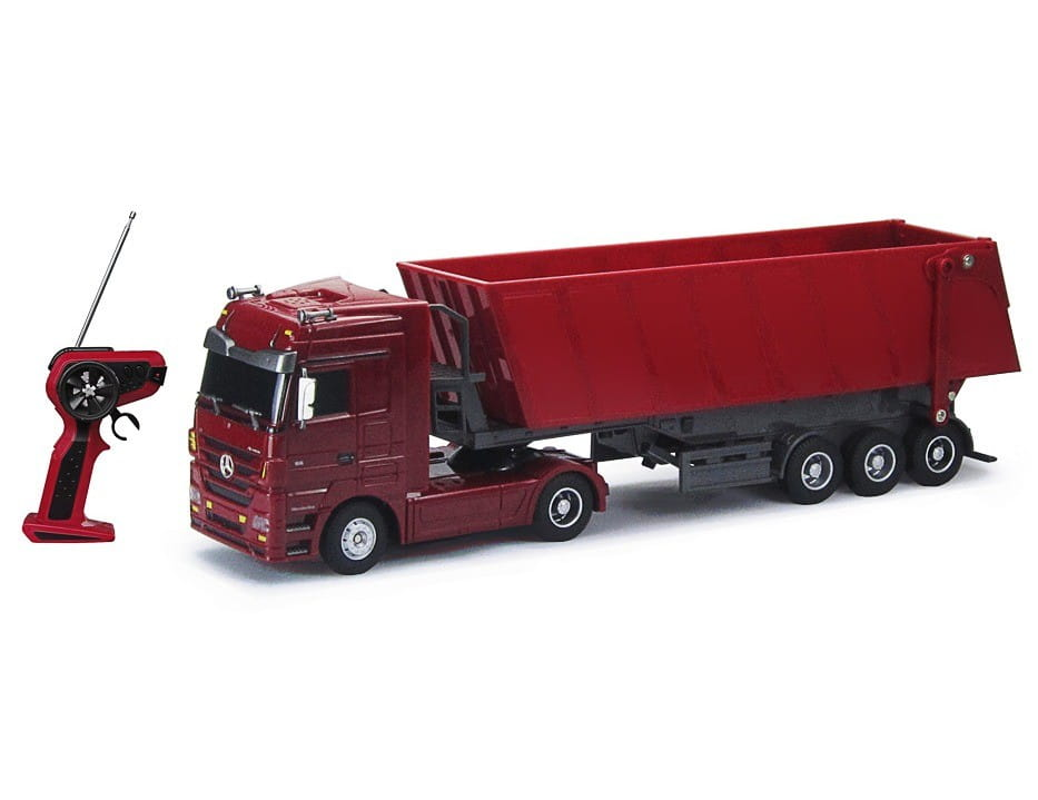 Радиоуправляемый грузовик Rui Chuang QY1101C-R Mercedes-Benz 6 CH 1:32 - красный