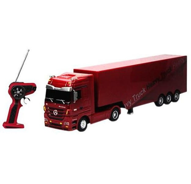 Радиоуправляемая фура RUI CHUANG Mercedes-Benz 6 CH 1:32 - красная