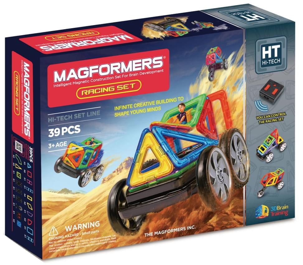 Магнитный конструктор Magformers 707006 (63131) Racing set - 39 деталей (с пультом управления)